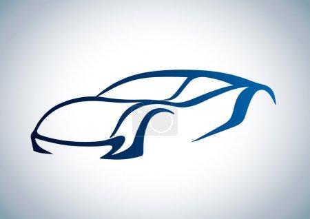 Photo pour Logo de l'auto - image libre de droit