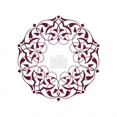 Illustration pour Pembe Osmanlagara motifleri beyaz zeminde - image libre de droit