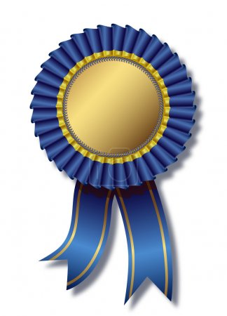 Blue awards white background