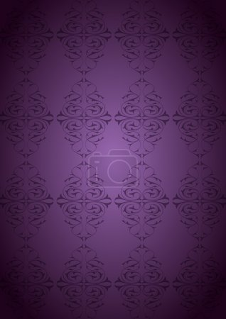 Ottoman patterns and purple background