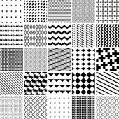Monochrome seamless patterns set abstract vector background