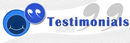 Testimonials Banner Blue