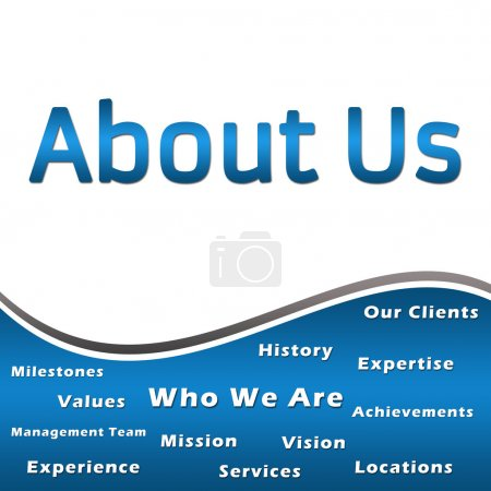 About Us - Heading and Keywords - Blue