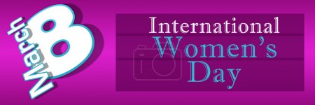 Photo pour 8 mars fond de rose et violet - womens international jour-. - image libre de droit