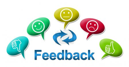 Feedback text and symbol surrounded with comments ...