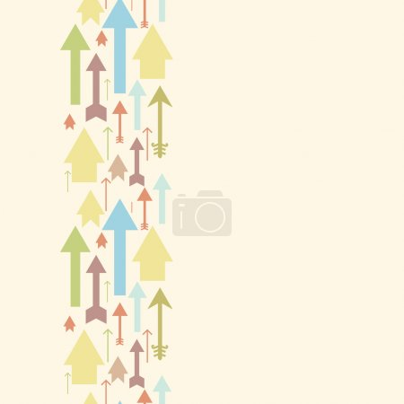 Arrows pointing up vertical seamless pattern background border