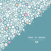Vector colorful bubbles corner seamless pattern background with hand drawn elements