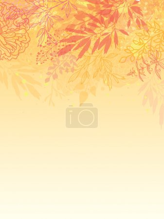 Glowing fall plants vertical background