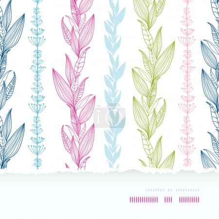 Floral stripes vertical horizontal torn seamless pattern background