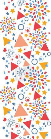 Abstract celebration vertical seamless pattern background