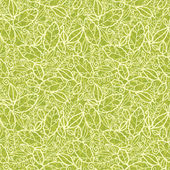Vector green lace leaves seamless pattern background with hand drawn elements