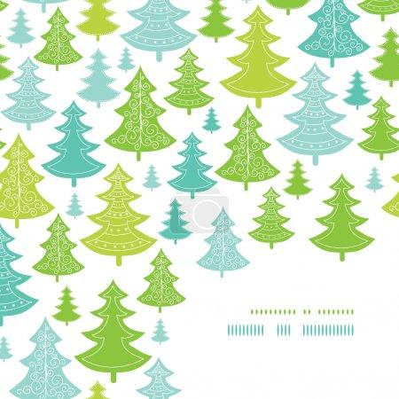 Holiday Christmas trees corner decor pattern background