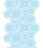 Doodle circle water texture vertical border seamless pattern background