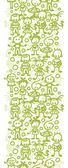 Vector group of children playing vertical seamless pattern background border with hand drawn elements