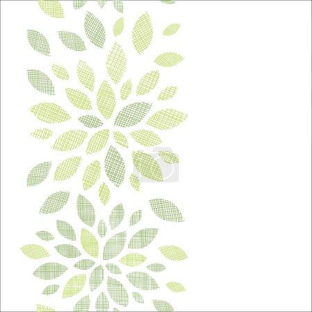 Illustration pour Tissu vectoriel texturé abstrait laisse vertical fond de motif sans couture - image libre de droit