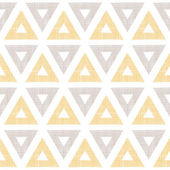Abstract textile ikat yellow brown triangles seamless pattern background