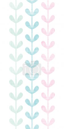 Abstract textile colorful vines leaves vertical seamless pattern background