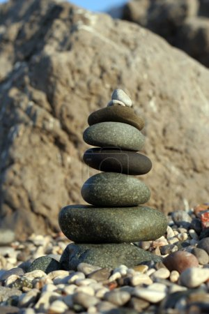 Photo for Pebbles on a sea shore - Royalty Free Image