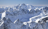 View from Lomnicky stit - peak in High Tatras mountains