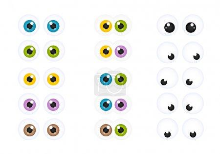 Illustration pour Ensemble de yeux de bande dessinée Googly - image libre de droit
