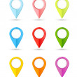 Set of round color pointers with place for your co...