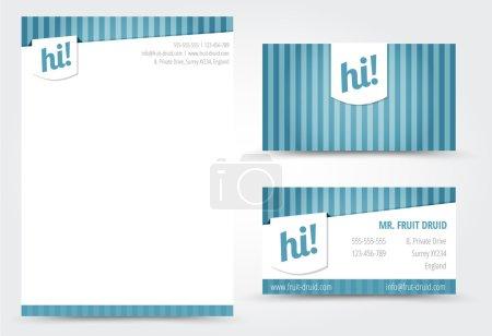 Illustration pour Cartes de visite et modèle de lettre - image libre de droit