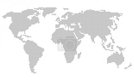Illustration for Dotted World Map - Royalty Free Image