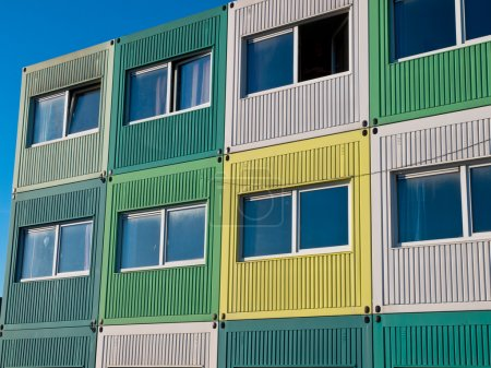 students housing in varied colors