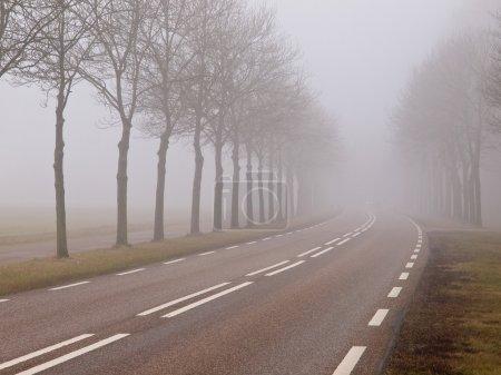 Photo pour Route sinueuse dans le paysage rural - image libre de droit