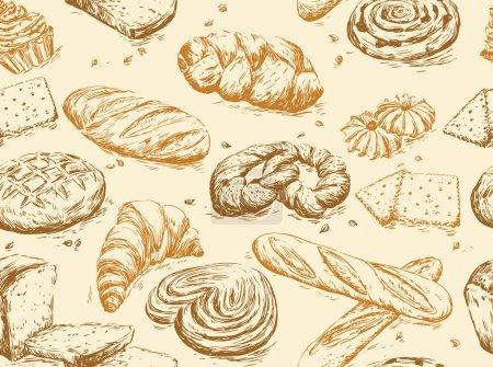 Illustration pour Pain motif vintage - image libre de droit
