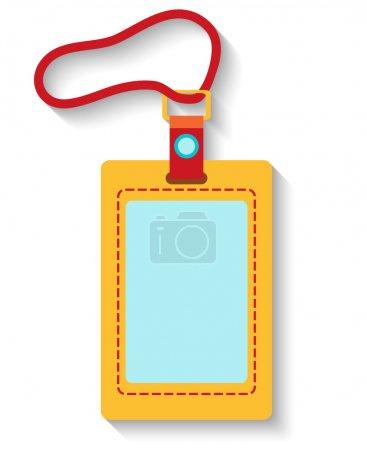 Illustration for Flat design luggage tag isolated on white background. Vector illustration - Royalty Free Image