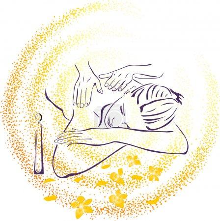 Illustration for Spa massage illustration - Royalty Free Image