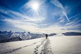 Zimní turistika ve švýcarských Alpách