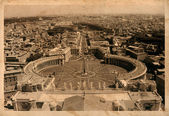 Aerial view of the Plaza de San Pedro