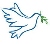 Dove the symbol of peace on earth