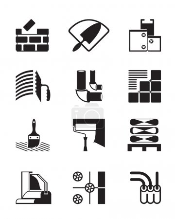 Illustration for Construction materials and tools - vector illustration - Royalty Free Image
