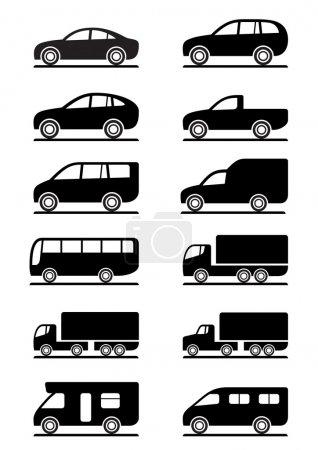 Photo pour Road Transport icônes set - illustration vectorielle - image libre de droit