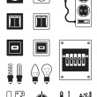 Electrical network devices - vector illustration...
