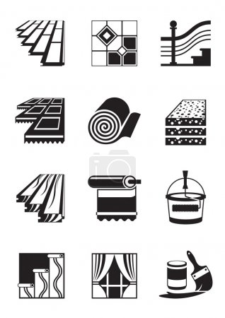 Photo for Decoration materials for interior - vector illustration - Royalty Free Image