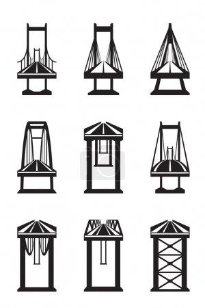Various types of bridges
