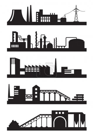 Various types of industrial plants