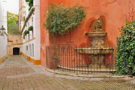 Fountain in Seville's old Jewish quarter