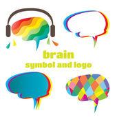 Brain symbol and logo
