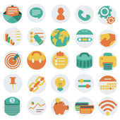Flat business icons vector illustration eps 10