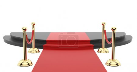 Photo for Render of the red carpet with stanchions on the side - Royalty Free Image