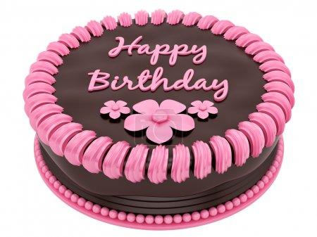 Photo pour Rendez-vous d'un gâteau d'anniversaire, isolé sur blanc - image libre de droit