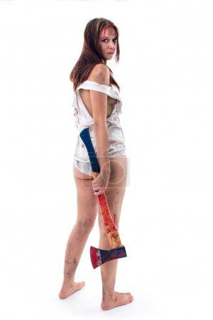 Sexy Woman holding an Axe