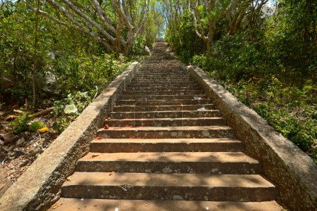 ancient stone staircase