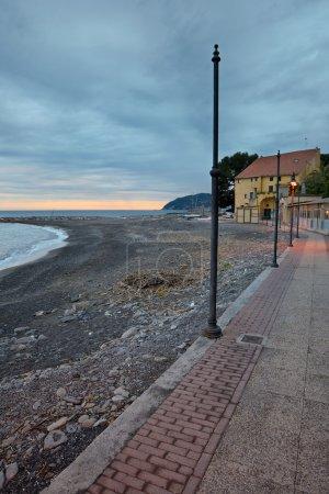 Coastline at dusk