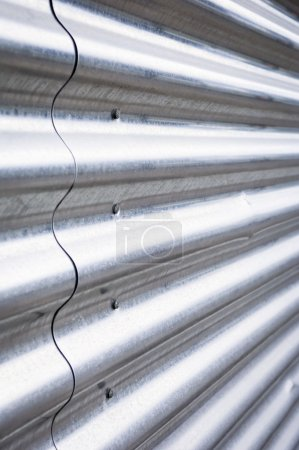 Photo for Corrugated steel - Royalty Free Image